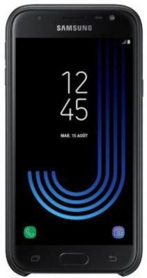 Coque Samsung j3 2017 noir double protection