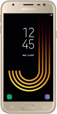 Smartphone Samsung Galaxy J3 Gold Ed.2017 + Etui Essentielb J3 2017 noir