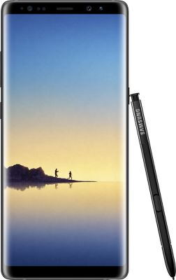 Smartphone Samsung Galaxy Note 8 Noir + Etui Samsung Note 8 Clear view cover noir