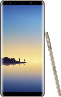 Smartphone Samsung Galaxy Note 8 Gold + Etui Samsung Note 8 LED View cover gold