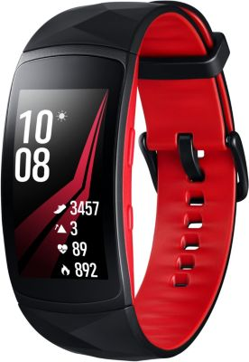 Montre Connectée samsung gear fit 2 pro noir/rouge taille s