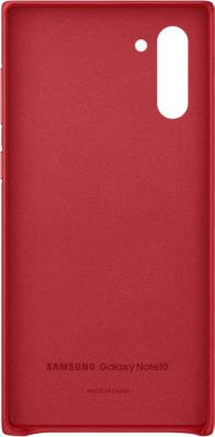 Coque Samsung Note 10 Cuir rouge