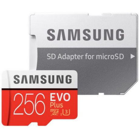 Mémoire SAMSUNG Micro SD 256Go EVO PLUS  + adapt