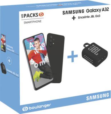 Smartphone Samsung Pack A32 Noir 4G + JBL Go3