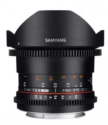 Objectif pour Reflex Samyang 8mm T3.8 Fisheye CS II VDSLR II Canon
