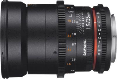 Objectif pour Reflex Samyang 35mm T1.5 AS UMC II VDSLR Canon EF