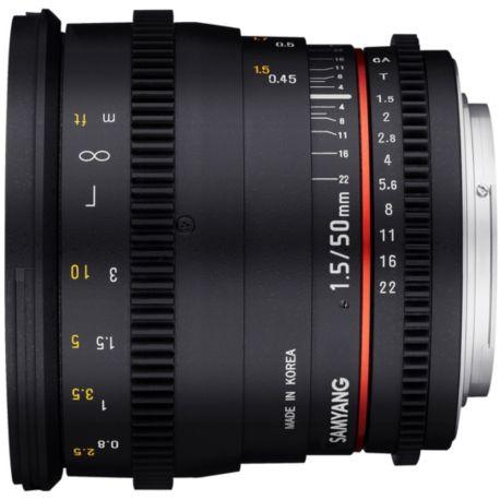 Objectif SAMYANG Samyang 50mm T1.5 VDSLR Canon
