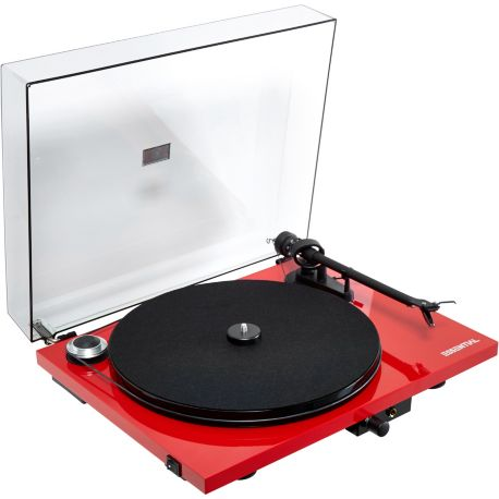 Platine TD PRO-JECT ESSENTIAL III rouge OM10 FR
