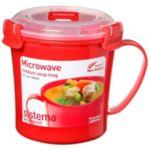 mug SISTEMA soupe micro-ondes à clips 65