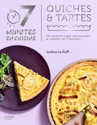 hachette 7 minutes en cuisine quiches et tartes livre de cuisine tablette de cuisine boulanger. Black Bedroom Furniture Sets. Home Design Ideas