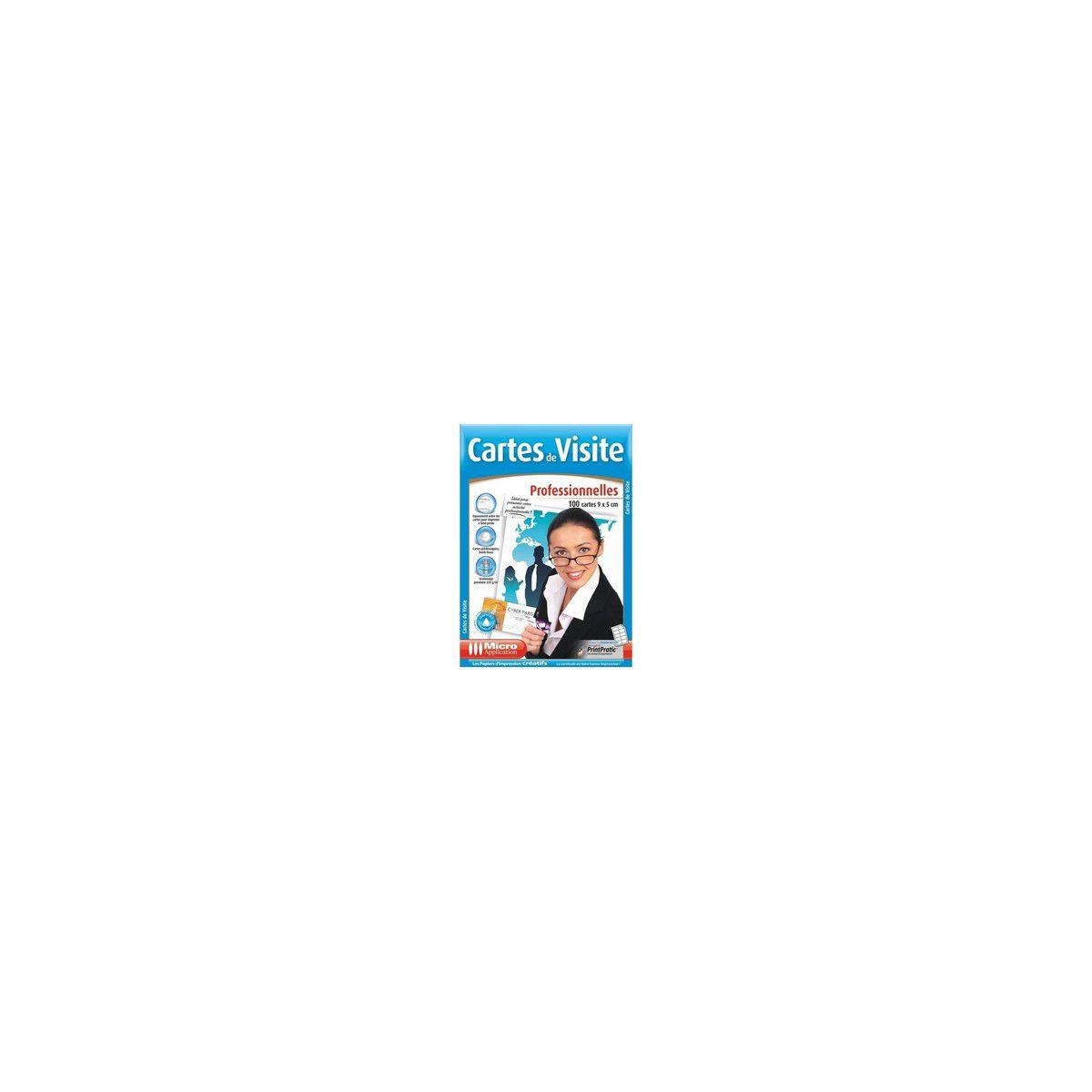 Papier Cratif 100 CARTES DE VISITES PRO Micro Application