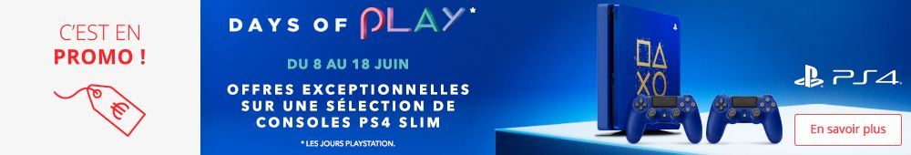 Offre PS4 Slim 500go et 1TO