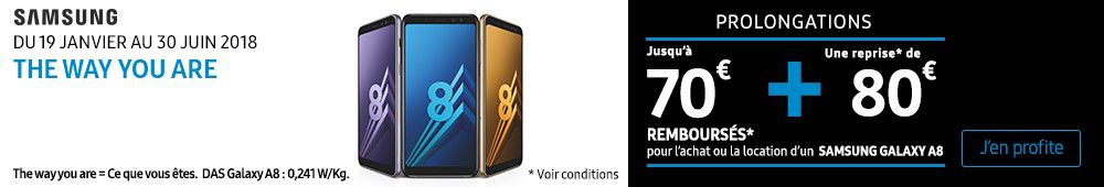 OFFRE SAMSUNG A8