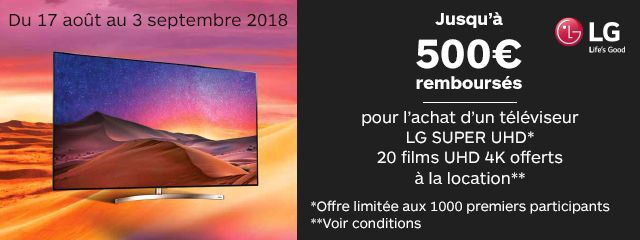 Offre TV LG