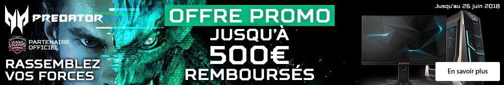 Jusqu'à 500€ remboursés !