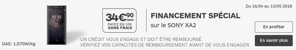 FINANCEMENT SONY XA2