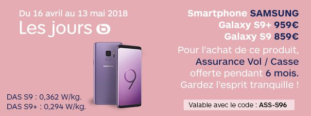 OFFRE SAMSUNG S9