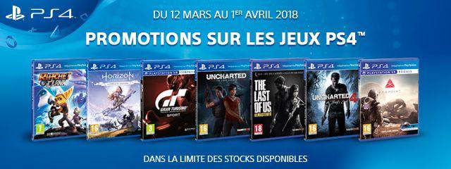 Offre Jeux PS4
