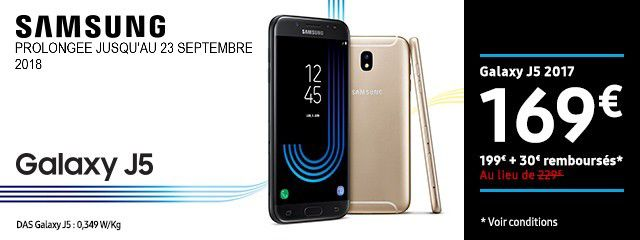 Offre Galaxy J5