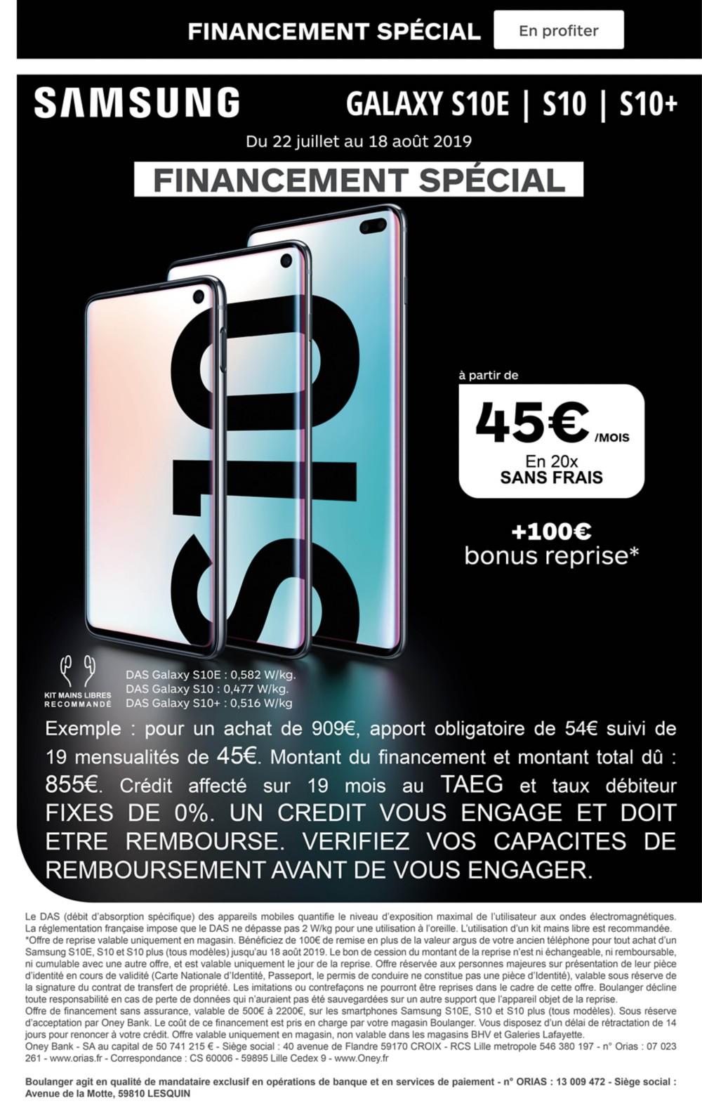 Offre Samsung