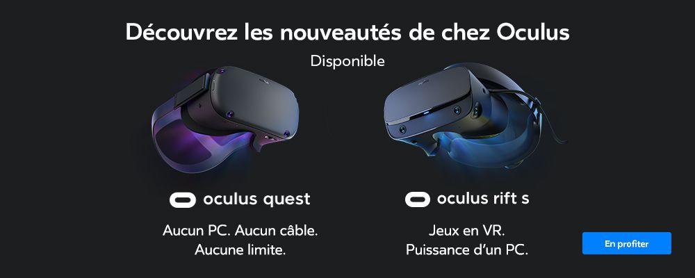 Nouveautés Oculus