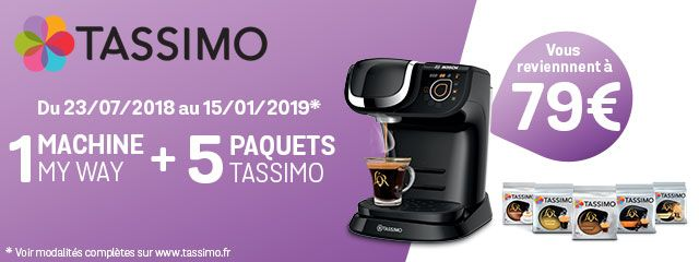 Offre Tassimo My Way