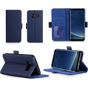prix limité prix imbattable attrayant et durable Etui Xeptio Samsung Galaxy S8 Portefeuille bleue