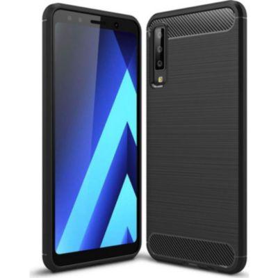 Xeptio Samsung Galaxy A9 2018 Carbone Noir Accessoire Smartphone
