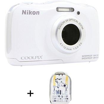 Appareil Photo Compact Nikon Coolpix W100 Blanc Sac à Dos