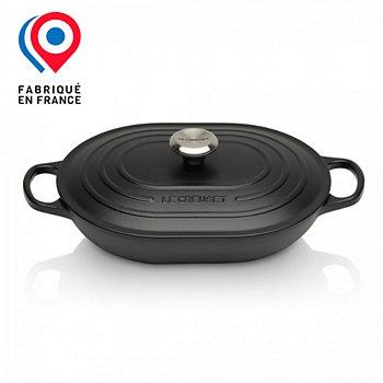 Cocotte Ovale Le Creuset Oblongue Noir Mat 31 Cm