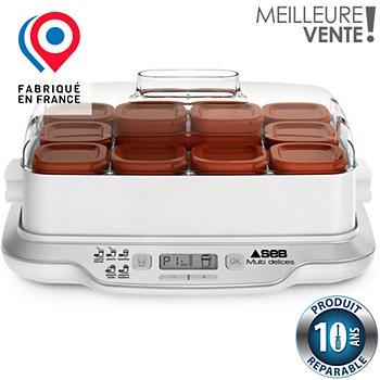 Yaourtière Fromagère Seb Yg661a00 Multidelices Express 12 Pots Boulanger