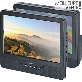 Lecteur Dvd Portable Double écran Essentielb Mobili Mm9 Support Voiture