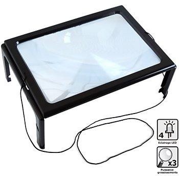 ca2dd3a4c4 Hestec Loupe à poser grand format LED Aide à l'autonomie et à la mobilité |  Boulanger