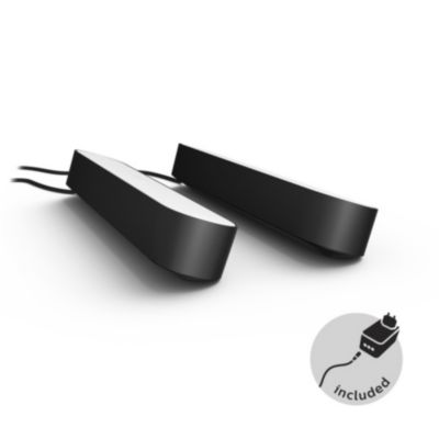 Philips Hue Play Pack X2 Noir Lampe Connectee Boulanger