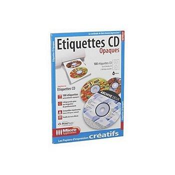 Micro Application 100 Etiquettes CD Papier