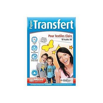 Micro Application Transfert Pour Textiles Clairs 10f Papier