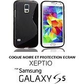 Coque Xeptio Samsung Galaxy S5 TPU noir et protection