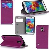 Etui Xeptio Samsung Galaxy S5 violet avec fenêtre