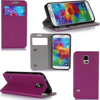 Xeptio Samsung Galaxy S5 violet avec fenêtre