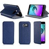 Etui Xeptio Samsung Galaxy A5 2016 bleu Cuir stand