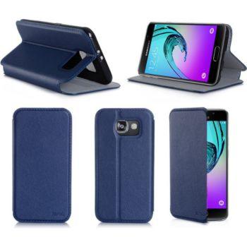 Xeptio Samsung Galaxy A5 2016 bleu Cuir stand
