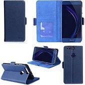 Coque Xeptio Honor 8 bleu portefeuille