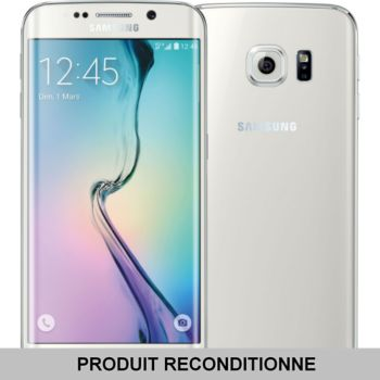 samsung galaxy s6 edge 32 go blanc reconditionn bon tat smartphone reconditionn boulanger. Black Bedroom Furniture Sets. Home Design Ideas