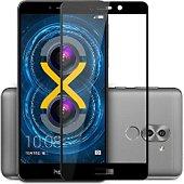 Protège écran Xeptio Honor 6X verre trempé noir