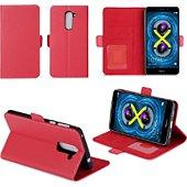 Etui Xeptio Honor 6X rouge portefeuille