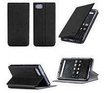 Etui Xeptio Blackberry Keyone noir stand