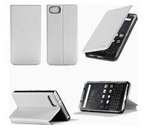 Etui Xeptio Blackberry Keyone blanc stand