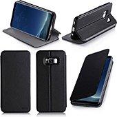 Etui Xeptio Samsung Galaxy S8 noir stand