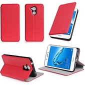 Etui Xeptio Honor 6C rouge stand