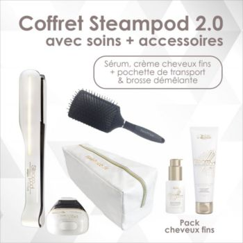 L'oreal Steampod cheveux fins + trousse & brosse